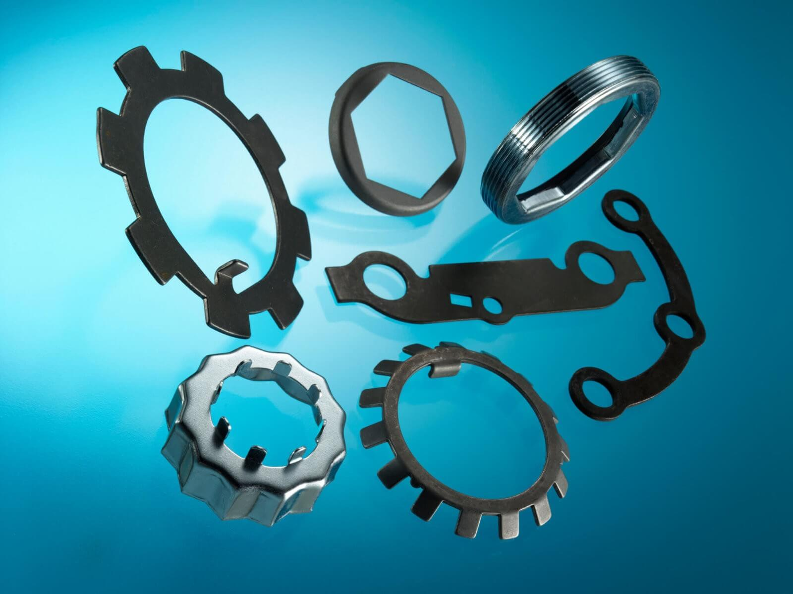 Automotive Parts Pressing Fixings. Gaskets made in Metal, Cellulose Pape, Composite, Shim Steel materials.