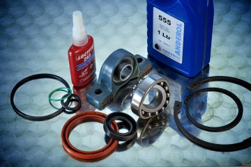 Adhesives, Bearings, O-Ring, Circlips and Seals